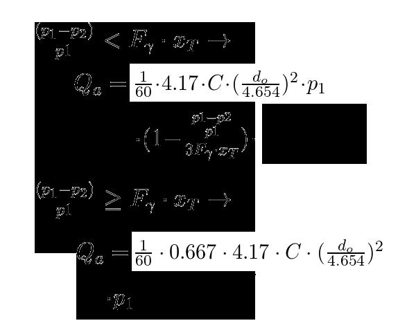 Calculator air flow rate through an orifice tlv a