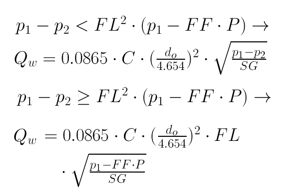 Calculator Water Flow Rate Through An Orifice Tlv A