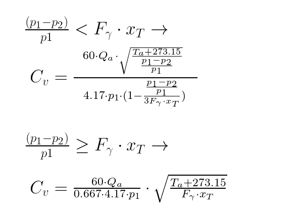 calculator  valve and orifice cv  u0026 kvs values for air