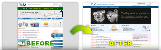 New Website Design | TLV - A Steam Specialist Company