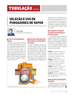 TLV publica na Engeworld um artigo sobre a seleção do purgador de vapor