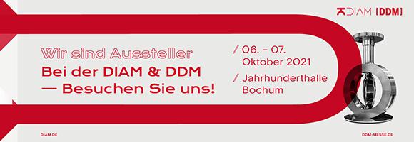 Sind Sie dabei? Deutschlands größte Fachmesse für Industriearmaturen DIAM findet wieder statt!