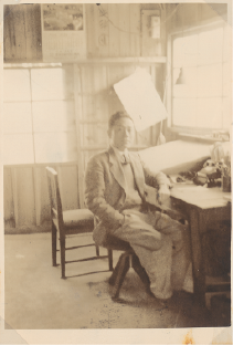 TLV's founder Katsuji Fujiwara sitting at his workstation in his home in Kakogawa, Japan, the birthplace of the TLV Group.