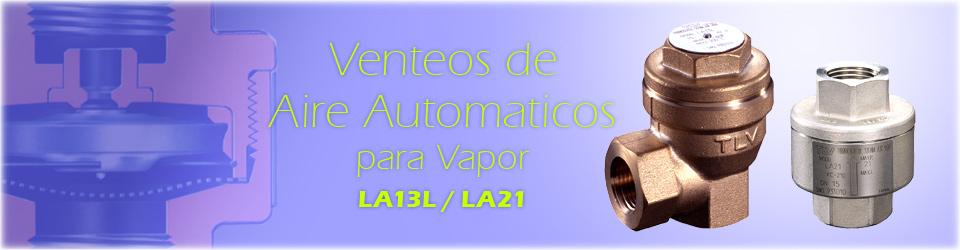 Venteos de Aire Automaticos para Vapor (LA13L/LA21)