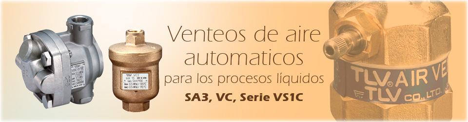 Venteos de aire automaticos para los procesos líquidos (SA3, VC, Serie VS1C)