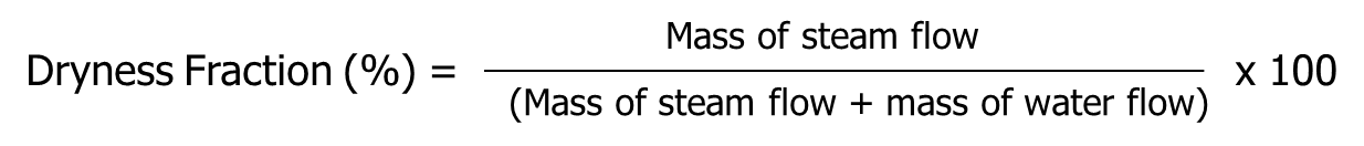 Steam Dryness Fraction Calculator feature (optional)