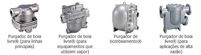 Purgadores mecânicos para vapor