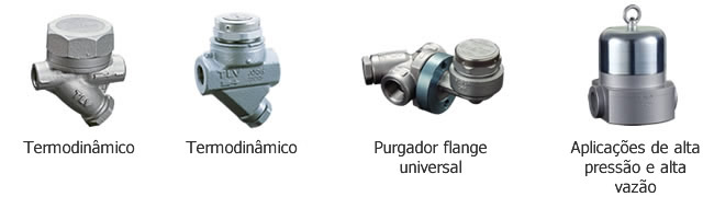 Purgadores termodinâmicos para vapor