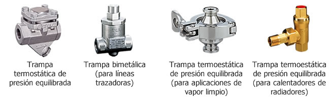 Trampas de vapor termostáticas