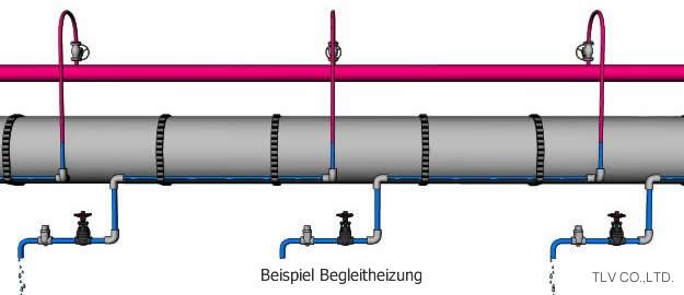 Anwendungsbeispiele für thermische Kondensatableiter