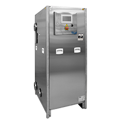 Dampfbetriebene Wärmeübertrager-Kompaktstation
